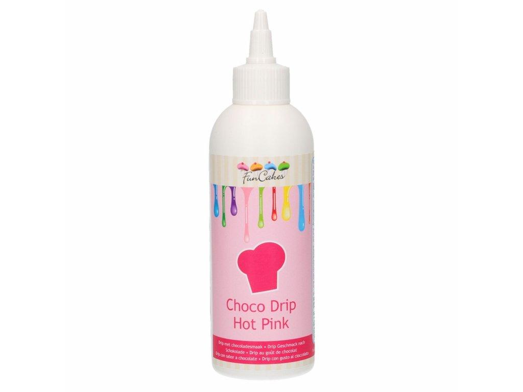 4749 1 fc choco drip 180g hot pink ruzova