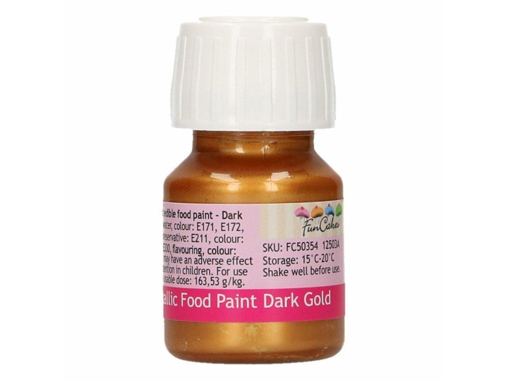 4800 1 fc metalicka farba tekuta 30ml dark gold zlata