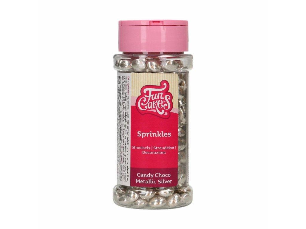 5001 1 fc posyp lentils mettalic silver strieborna 80g