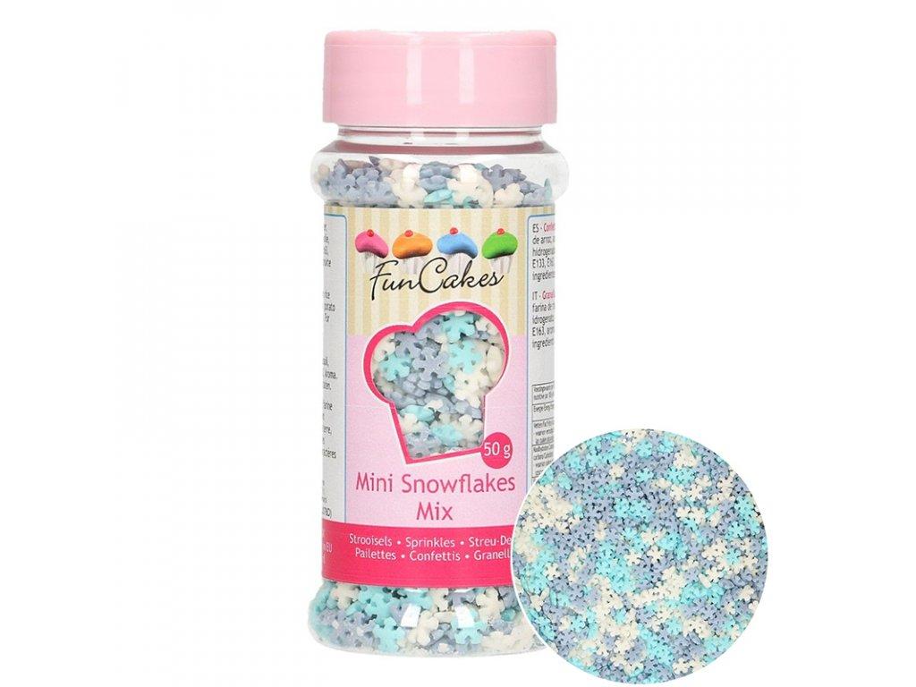 5013 1 fc posyp mini snowflakes mix 50g