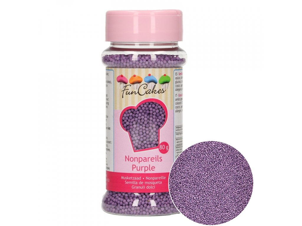 5046 1 fc posyp nonpareils 80g purple fialova