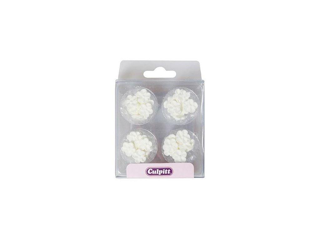 5769 1 hotove cukrove kvety mini biele 48ks