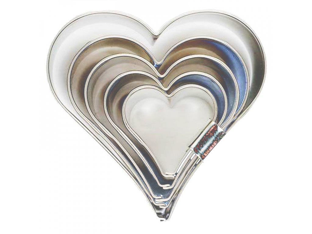 6042 1 kovova vykrajovacka sada srdce 5ks
