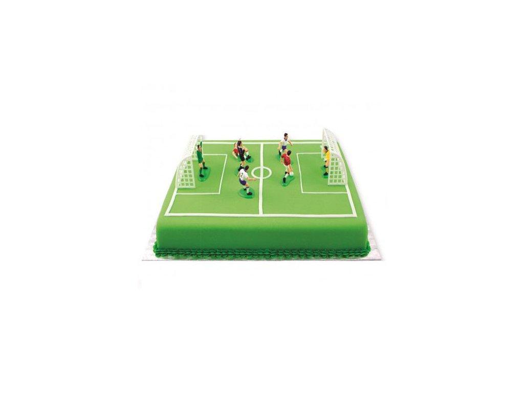6177 2 plastovy fotbalovy set na tortu