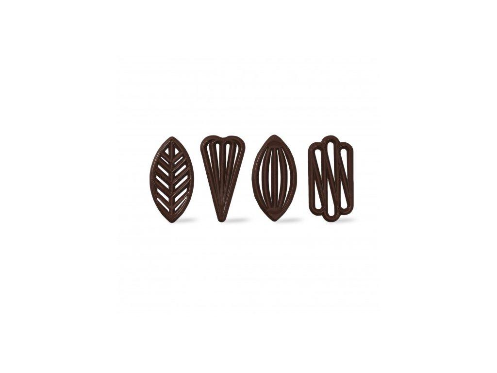 6471 1 cokoladova dekoracia filigrany 3 0x5 7cm cca 260ks 71215
