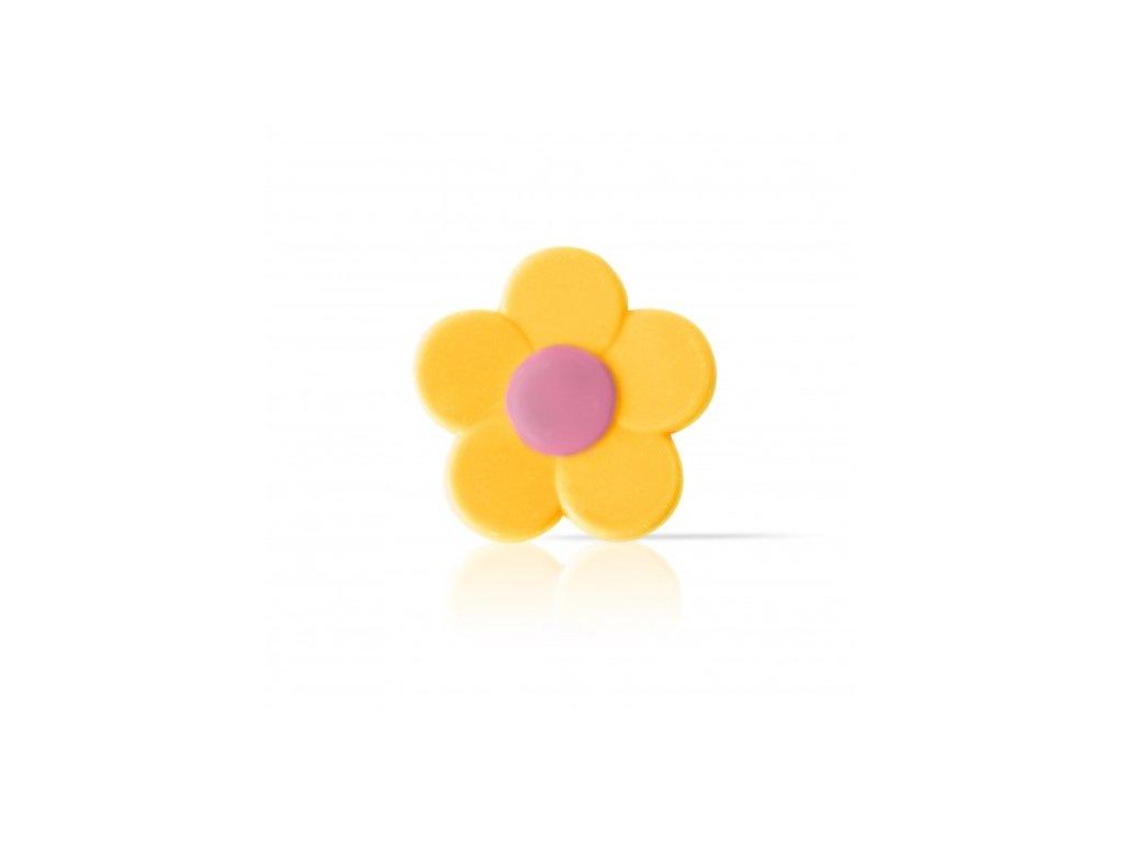 6528 1 cokoladova dekoracia zlty kvet pr 3 2cm cca 302ks 78227