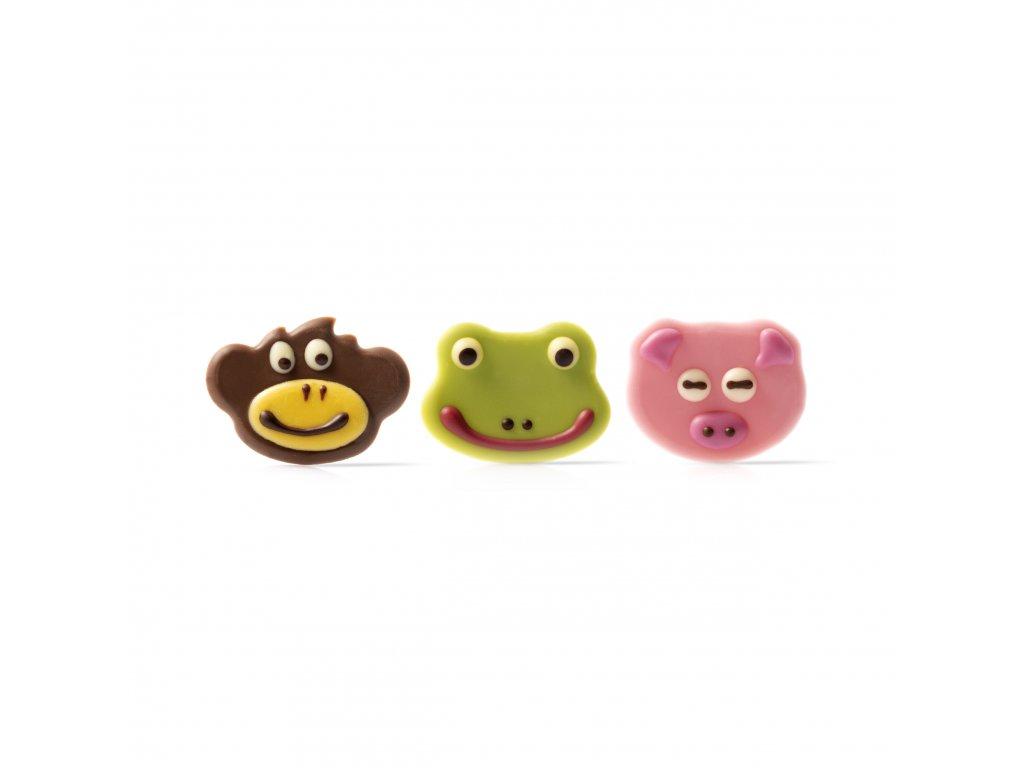 6564 1 cokoladova dekoracia zvieratka 108ks 77565