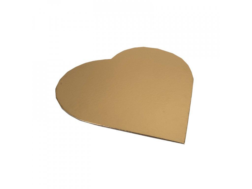 6648 1 podnos pevny zlato strieborny srdce pr 43x31cm