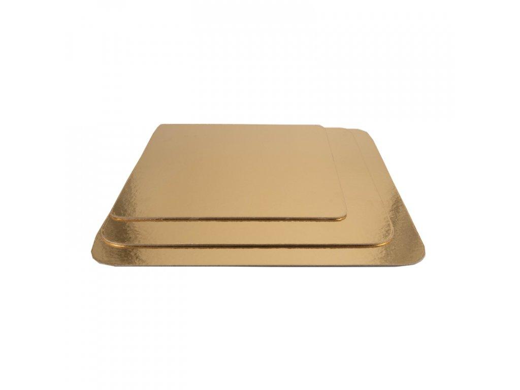 6651 1 podnos pevny zlato strieborny stvorec pr 38x38cm