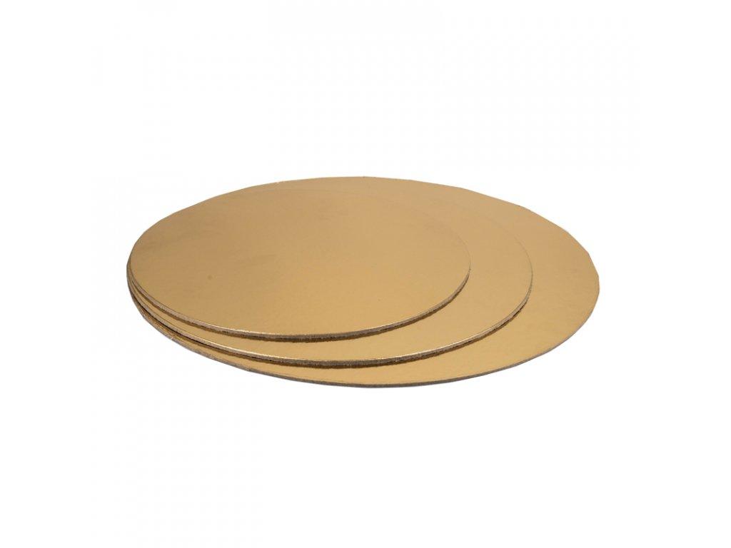 6660 1 podnos tenky zlaty kruh pr 15cm