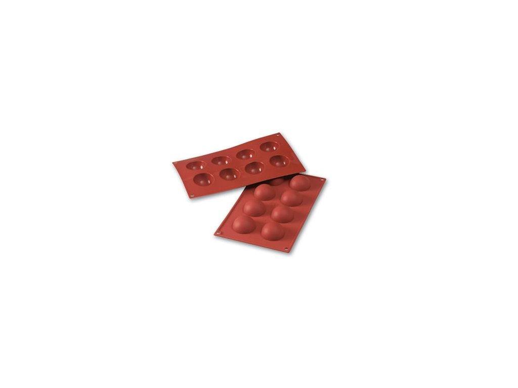 6816 1 silikonova forma pologule pr 5cm sf004