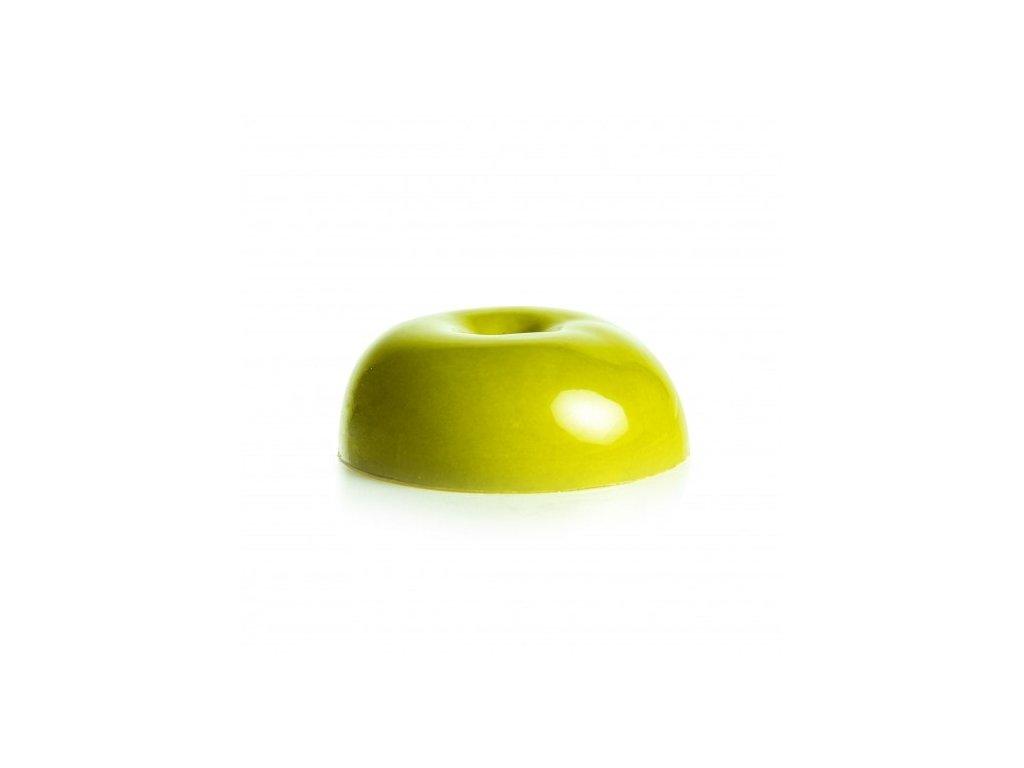čokoládová dekorácia polovica zeleného jablka 70x25mm 28ks (77682)