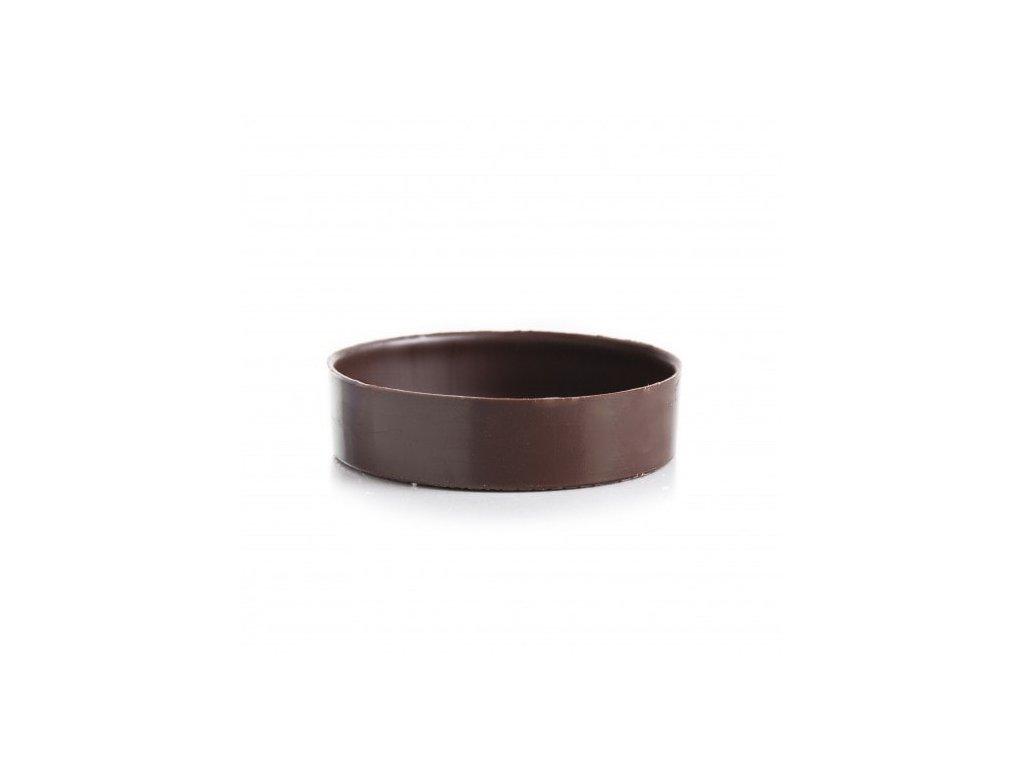 čokoládová dekorácia tartaletka 70x18mm 66ks (11215)