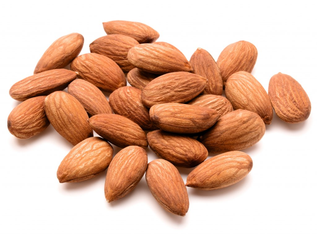 almond nuts isolated on white background close up WAZYBZE