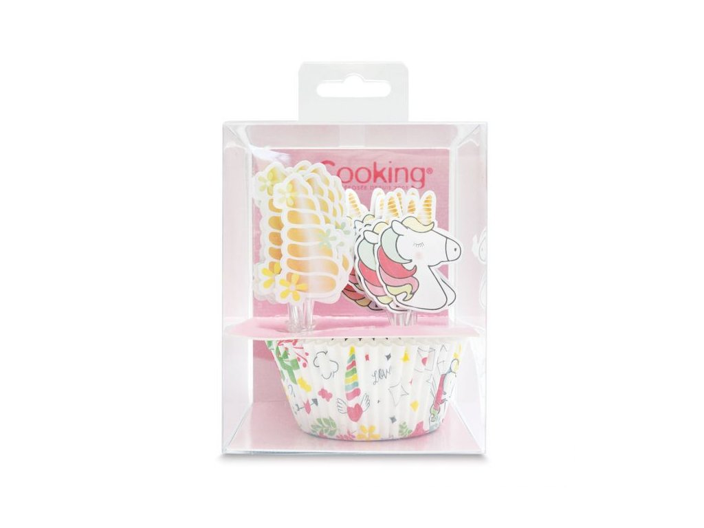 8700 suprava na cupcaky unicorn kosicky zapichy 24ks