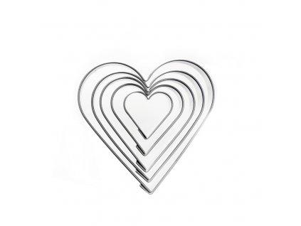 4176 2 kovova vykrajoacka srdce sada 5ks o