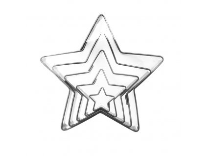 4182 2 kovova vykrajovacka hviezda 5ks o