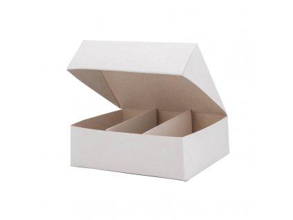 4197 1 krabicka na makaronky biela 140x115x45