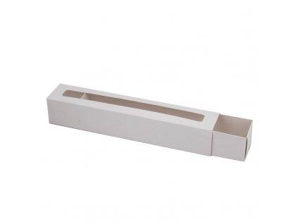 4200 1 krabicka na makaronky biela s okienkom 272x46x46