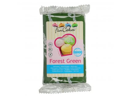 4563 1 fc fondant 250g forest green zelena