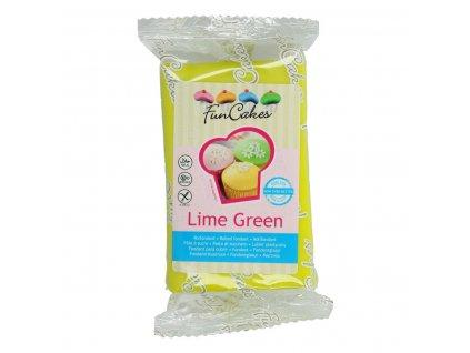 4569 1 fc fondant 250g lime green zelena