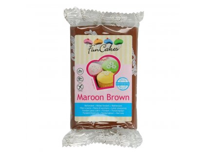 4572 1 fc fondant 250g maroon brown hneda