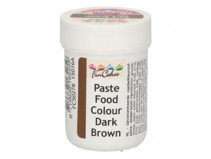 4659 1 fc gelova farba 30g dark brown hneda v kelimku