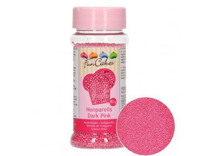 5022 1 fc posyp nonpareils 80g dark pink ruzova
