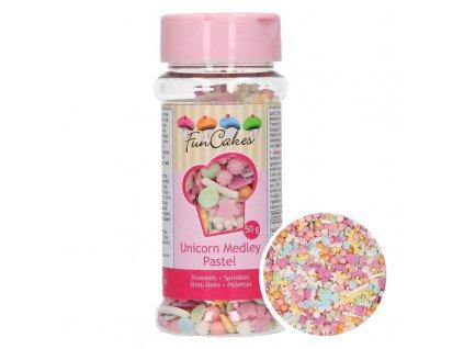 5196 1 fc posyp sprinkle medley pastel unicorn 50g