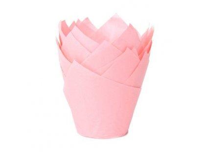 5901 1 kosicky na muffiny tulip baby pink 36ks hof