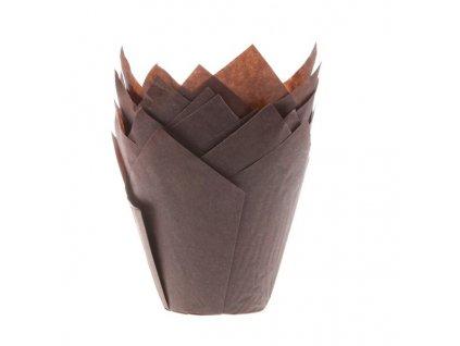 5913 1 kosicky na muffiny tulip brown 36ks hof