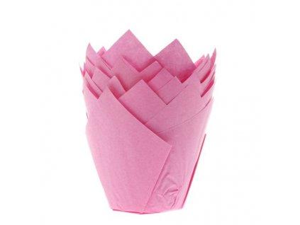 5916 1 kosicky na muffiny tulip pink 36ks hof