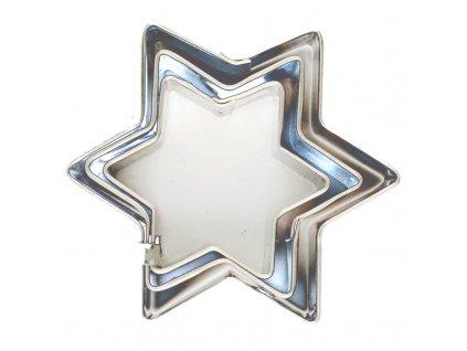 5964 1 kovova vykrajovacka hviezda sada 3ks