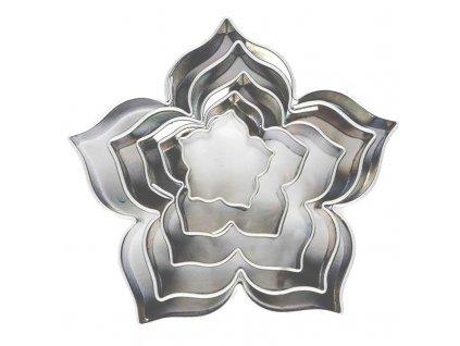 6003 1 kovova vykrajovacka kvet lily sada 5ks