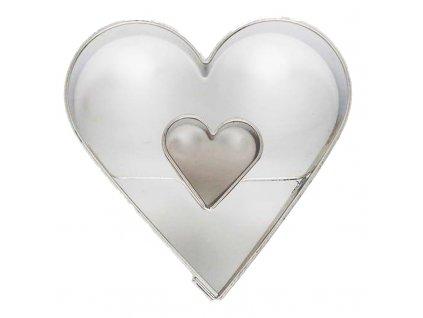 6072 1 kovova vykrajovacka srdce dvojite 4 5cm