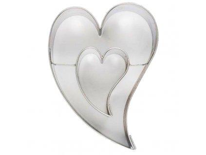 6075 1 kovova vykrajovacka srdce dvojite 7cm