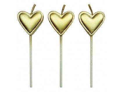 6384 1 sviecky zlate srdcia 8ks pme