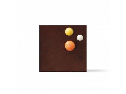 6510 1 cokoladova dekoracia stvorcek dots 360ks 77466