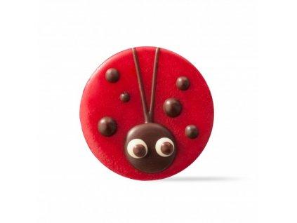 6516 1 cokoladova dekoracia lienka 176ks 77557