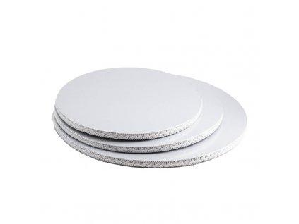 6597 podnos hruby biely s krajkou kruh pr 40cm