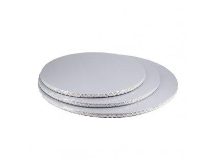 6609 podnos hruby strieborny s krajkou kruh pr 40cm