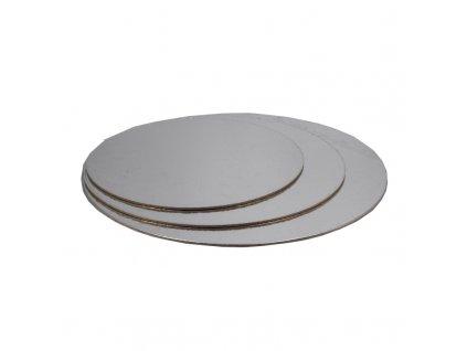 6615 1 podnos pevny strieborno zlaty kruh pr 30cm