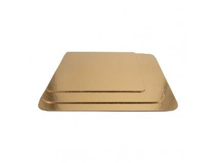 6657 1 podnos pevny zlato strieborny stvorec pr 35x35cm