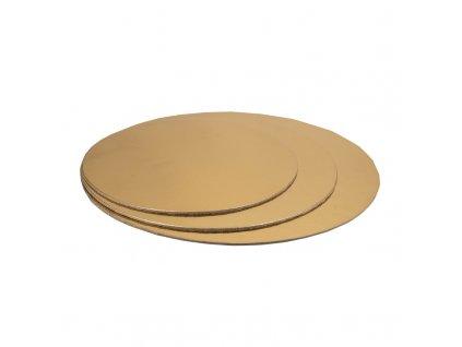 6663 1 podnos tenky zlaty kruh pr 20cm