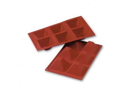 6798 1 silikonova forma na dezerty pyramida 6ks