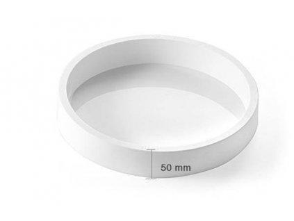 6951 2 silikonova forma tor240 h50 1 h 50mm apvali balta