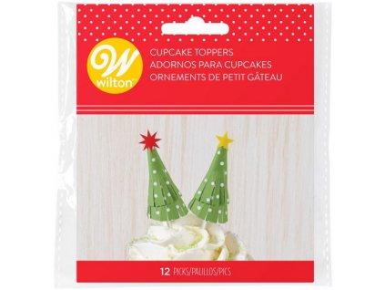 7716 zapich papierovy vianocny stromcek 12ks
