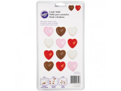 2115 1712 001 Forma candy Mold hearts W
