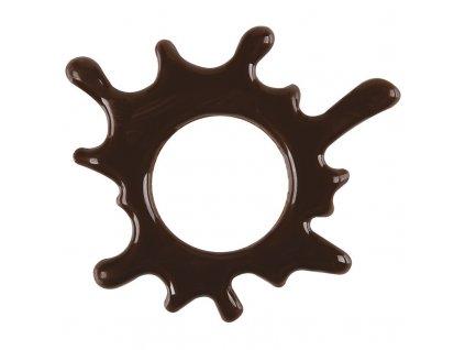 Čokoládová kvapka tmavá malá 75 ks