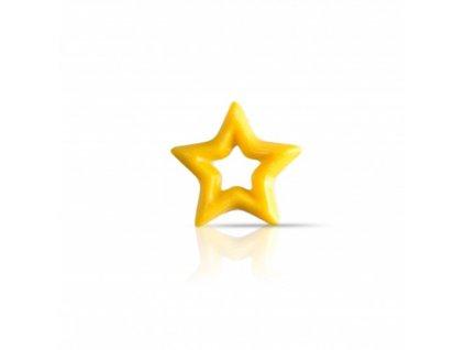 čokoládová dekorácia žltá hviezda pr.30mm 304ks (78338)
